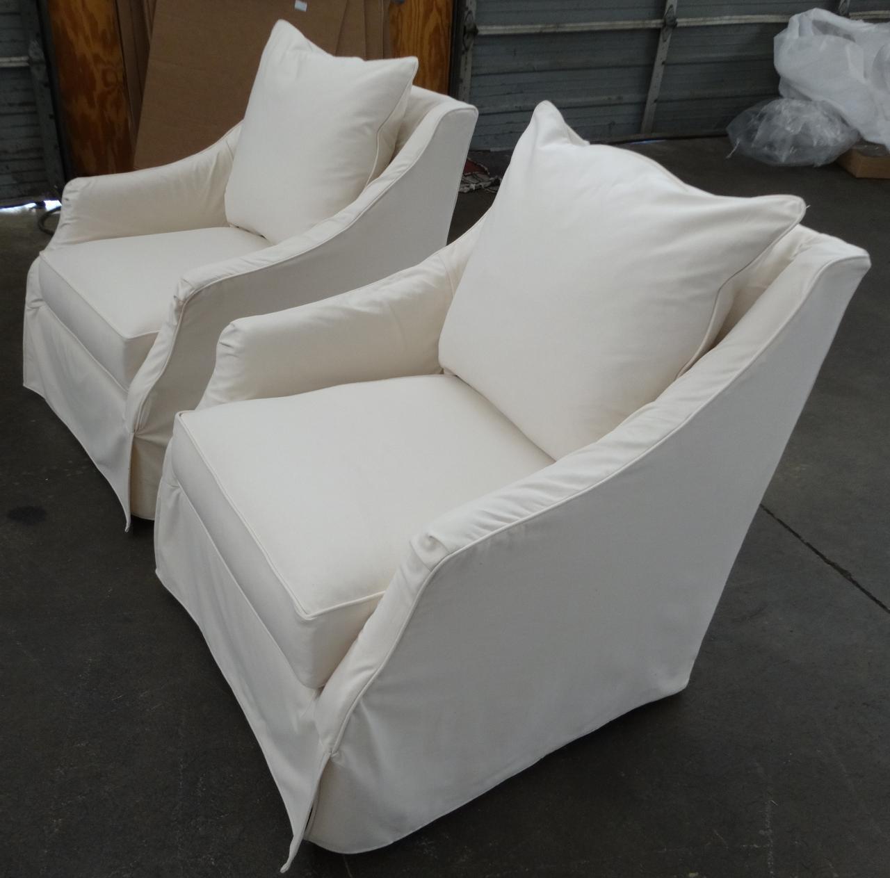 Kate. Customer Custom Orders. Robin Bruce   Kate Slipcover Swivel Chair