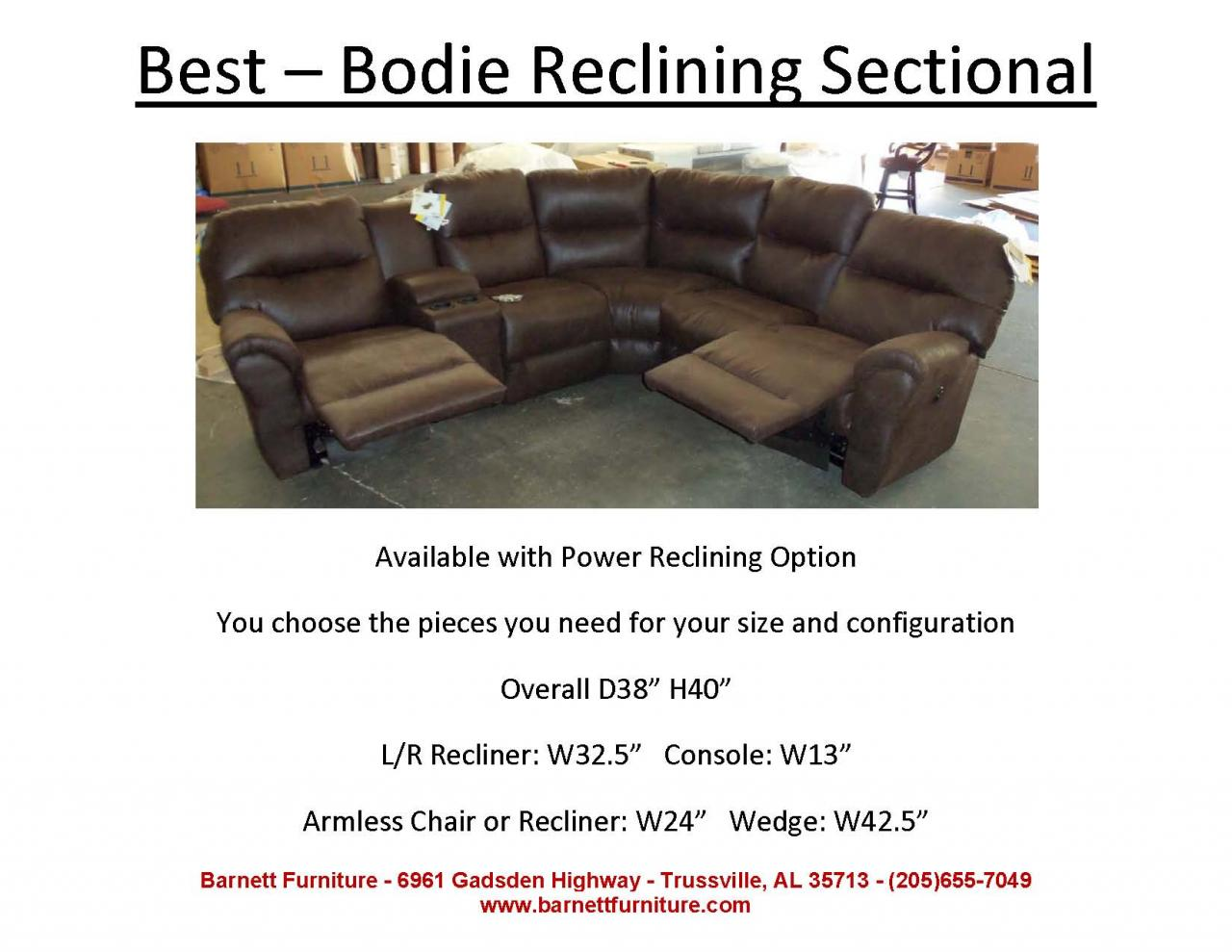 Best Bodie Reclining Sectional