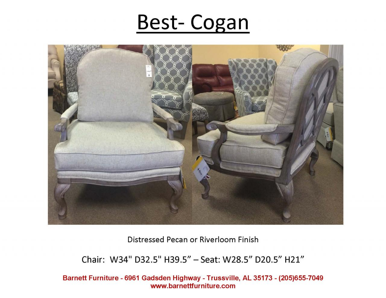 Barnett furniture chairs for Best home furnishings