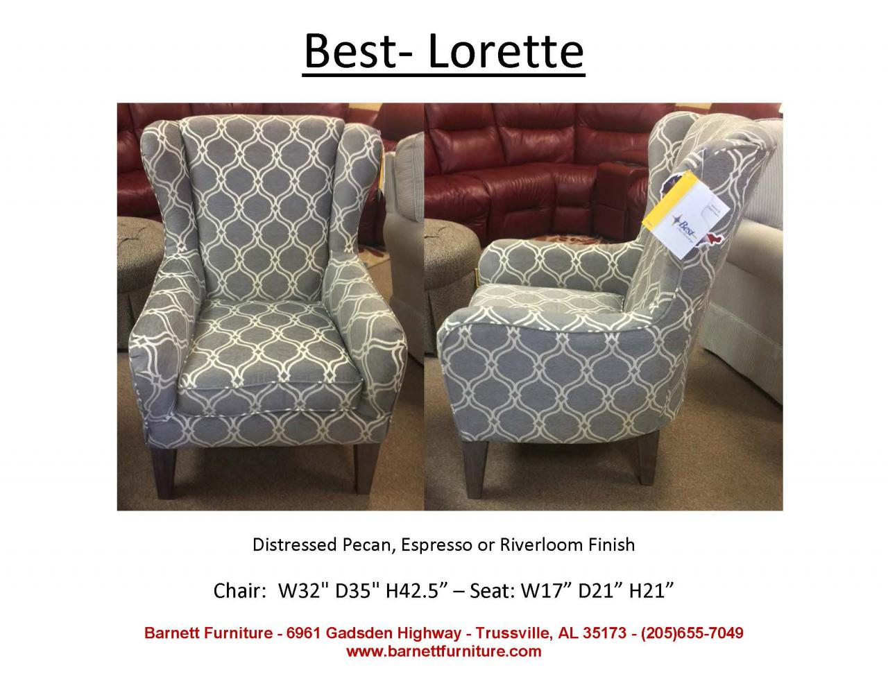 barnett furniture chairs