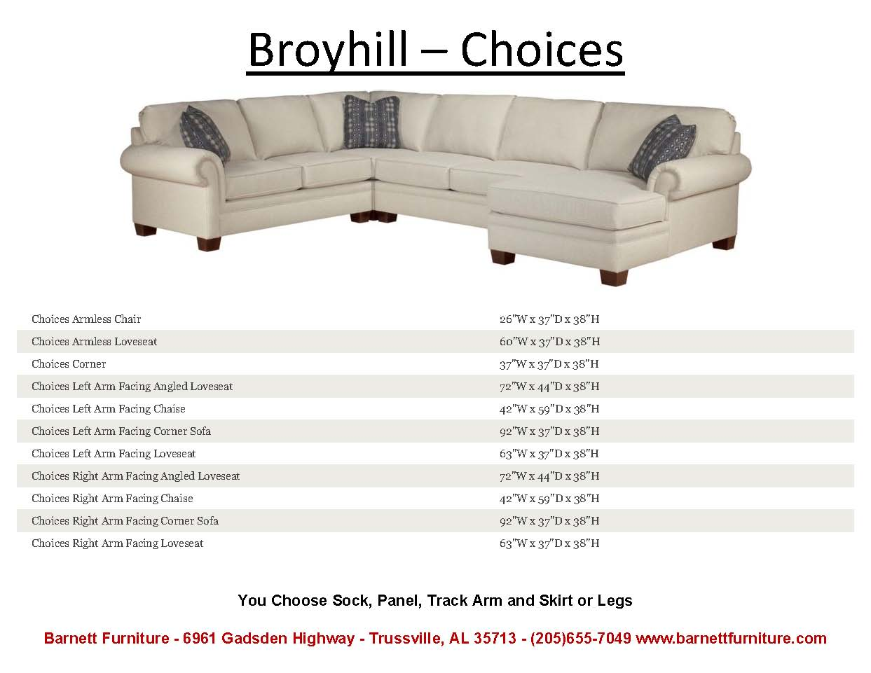 Broyhill Choices Sectional