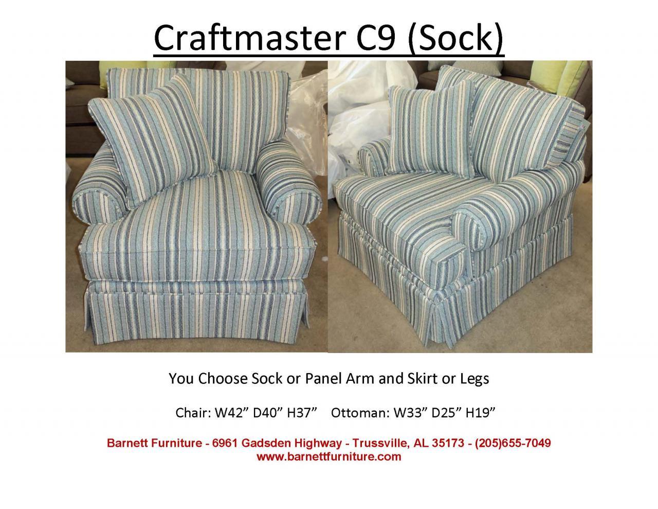 ... Craftmaster C9 Chair   Sock Arm, Skirt ...