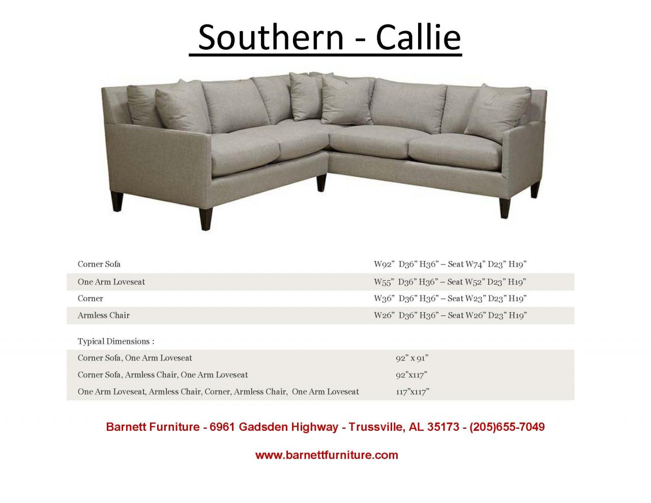 Southern Callie Sectional