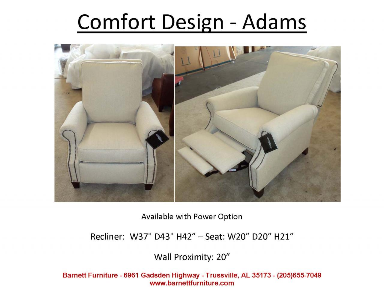 ... Comfort Design Adams Recliner ...  sc 1 st  Barnett Furniture & Barnett Furniture - recliners islam-shia.org