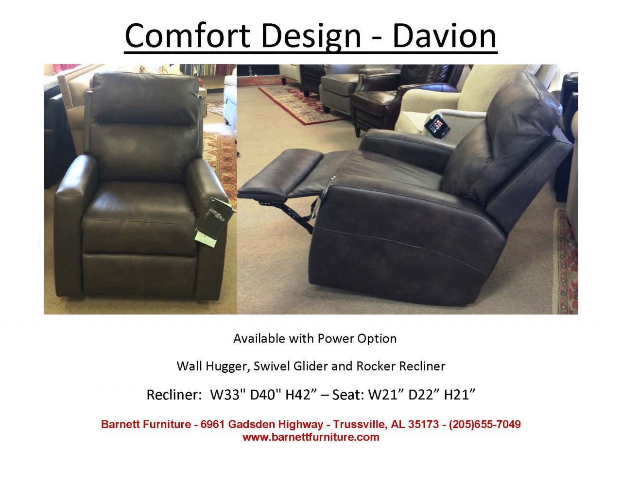 ... Comfort Design Davion Recliner - Wall Hugger Swivel Glider or Rocker Recliner ...  sc 1 st  Barnett Furniture & Barnett Furniture - Swivel / Swivel Gliders islam-shia.org