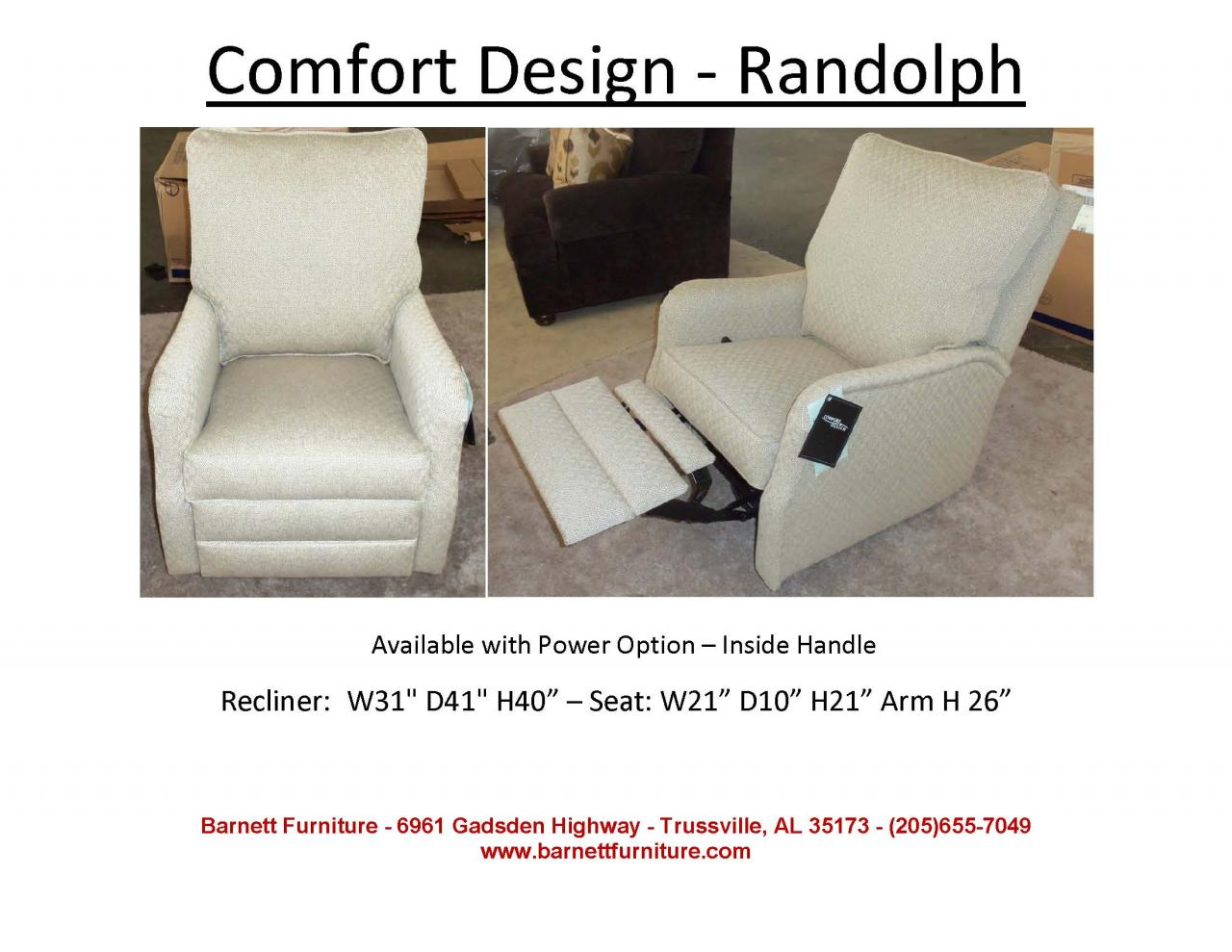 Comfort Design Randolph Swivel Glider Recliner