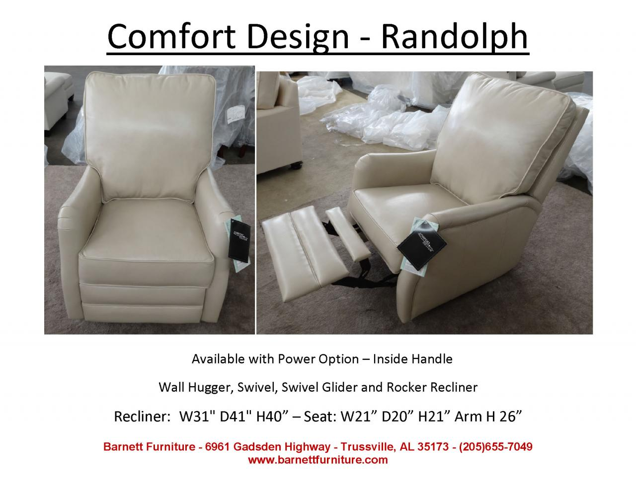 ... Comfort Design Randolph Recliner In Leather ...