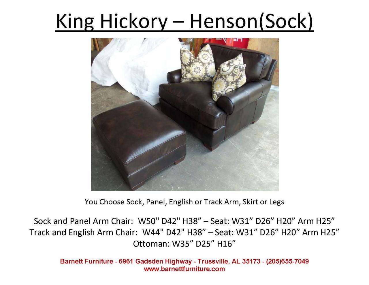 King Hickory Henson Chair Sock Arm Modern Leg