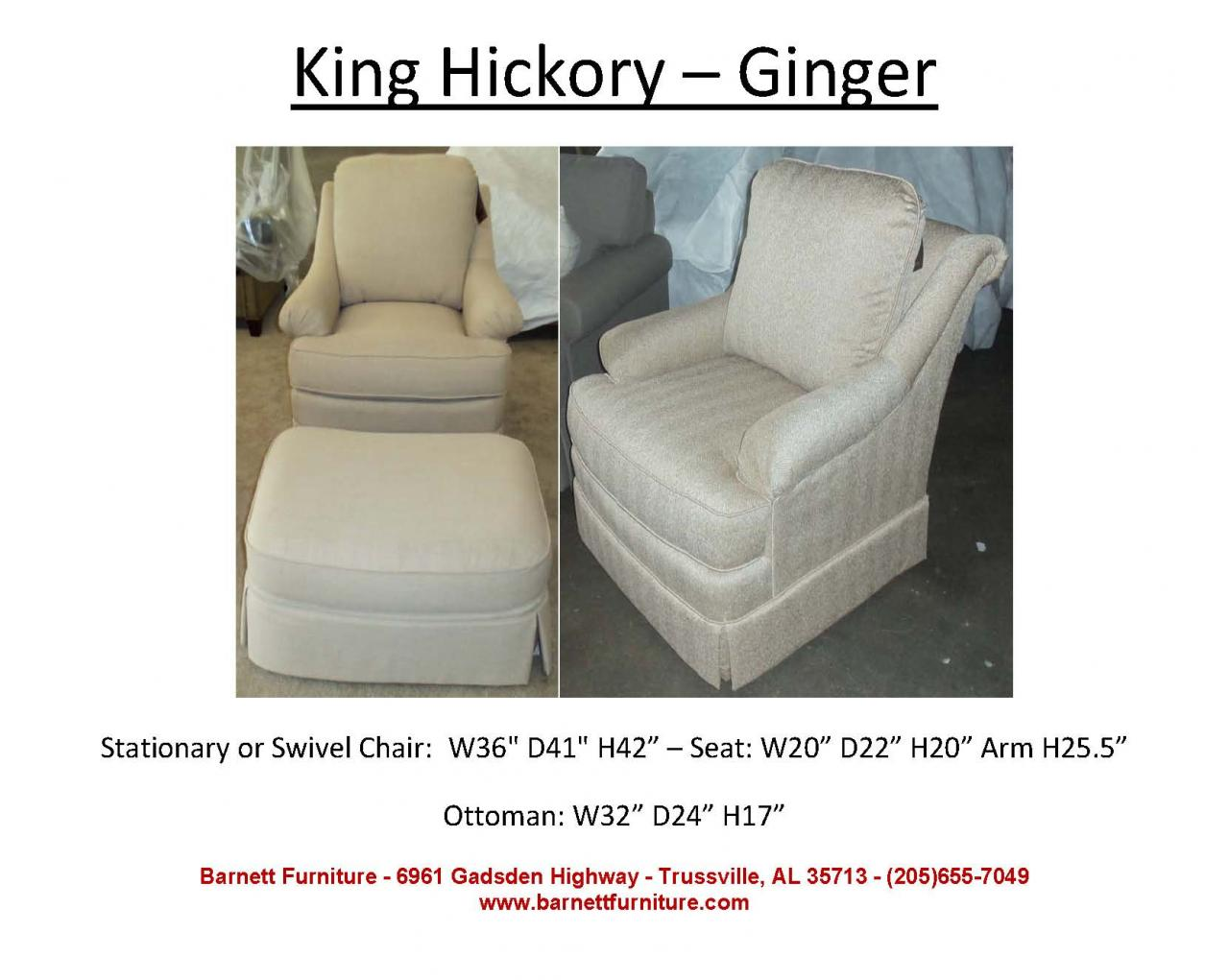 Barnett Furniture Swivel Swivel Gliders