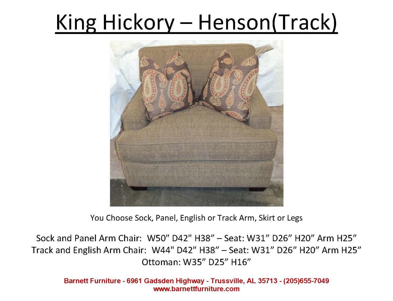 King Hickory Henson Chair Track Arm Modern Leg
