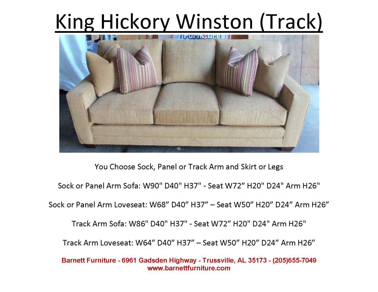 King Hickory Winston Sofa With Track Arm