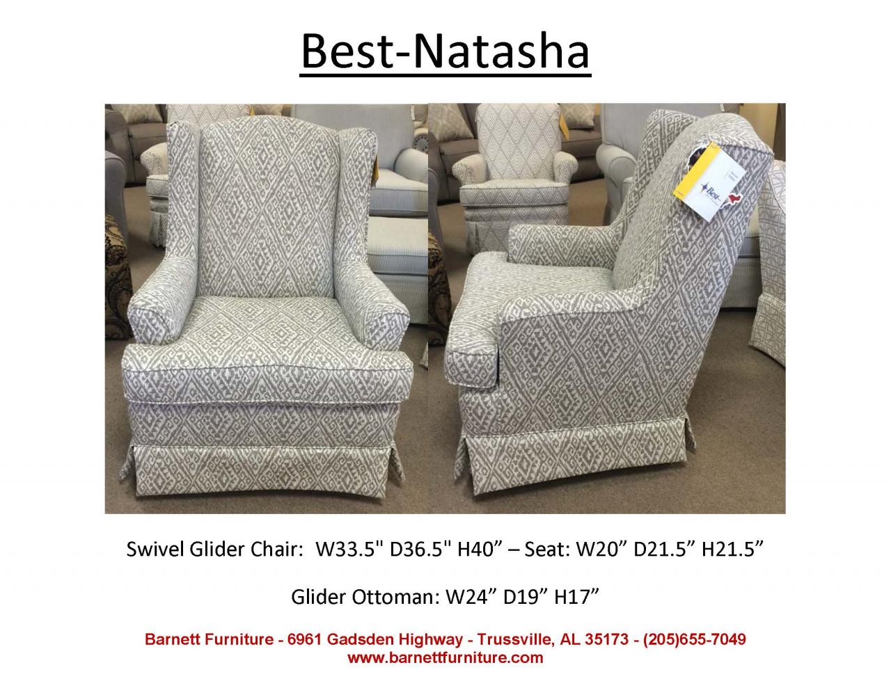 best home furnishings natasha swivel glider