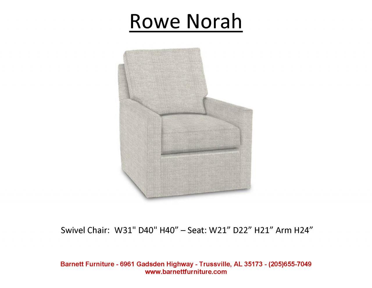 ... Rowe Norah Upholstered Swivel Chair ...