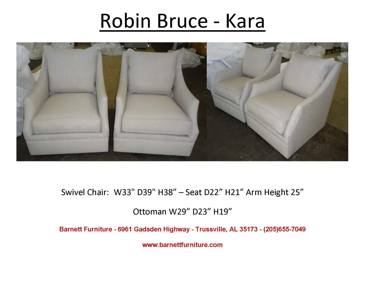 Barnett Furniture Swivel Swivel Gliders