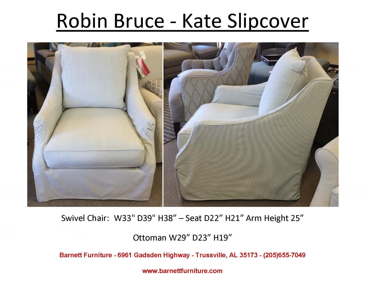 Charmant ... Glider Chair; Robin Bruce Kate Slipcover Swivel Chair ...