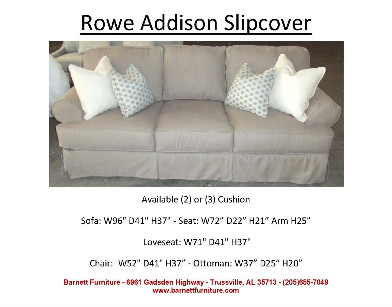 Robin Bruce Havens Slipcover Sofa Rowe Addison