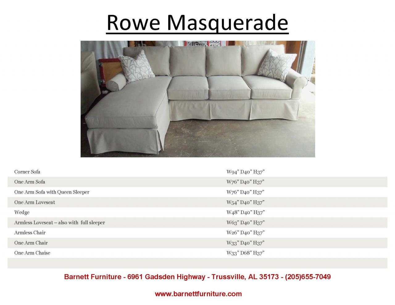 ... Rowe Masquerade Slipcover Sectional ...  sc 1 st  Barnett Furniture : slip cover for sectional couch - Sectionals, Sofas & Couches