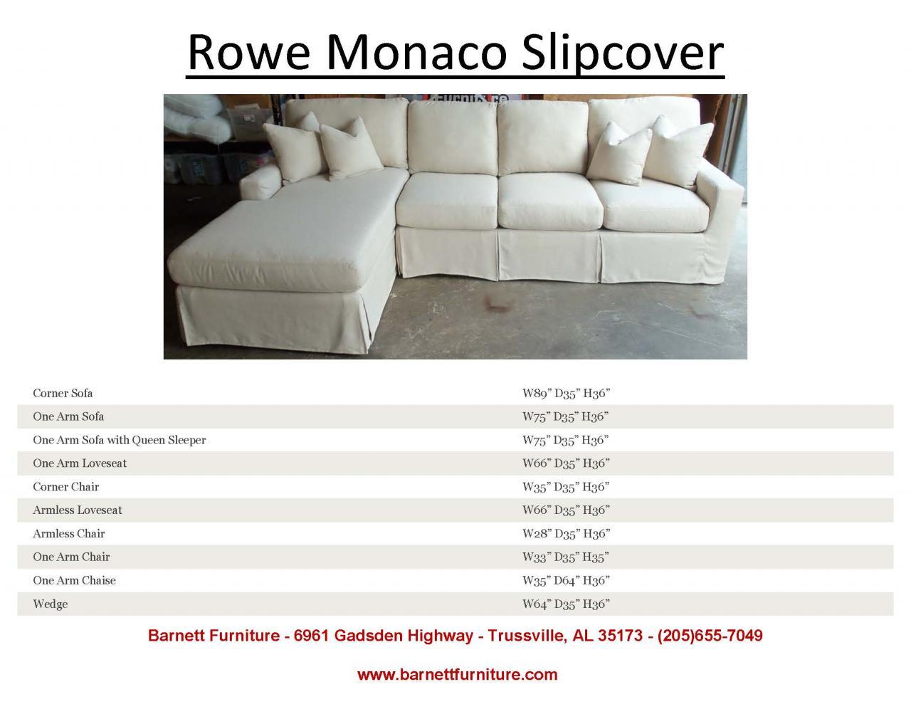 Rowe Monaco Slipcover Sectional