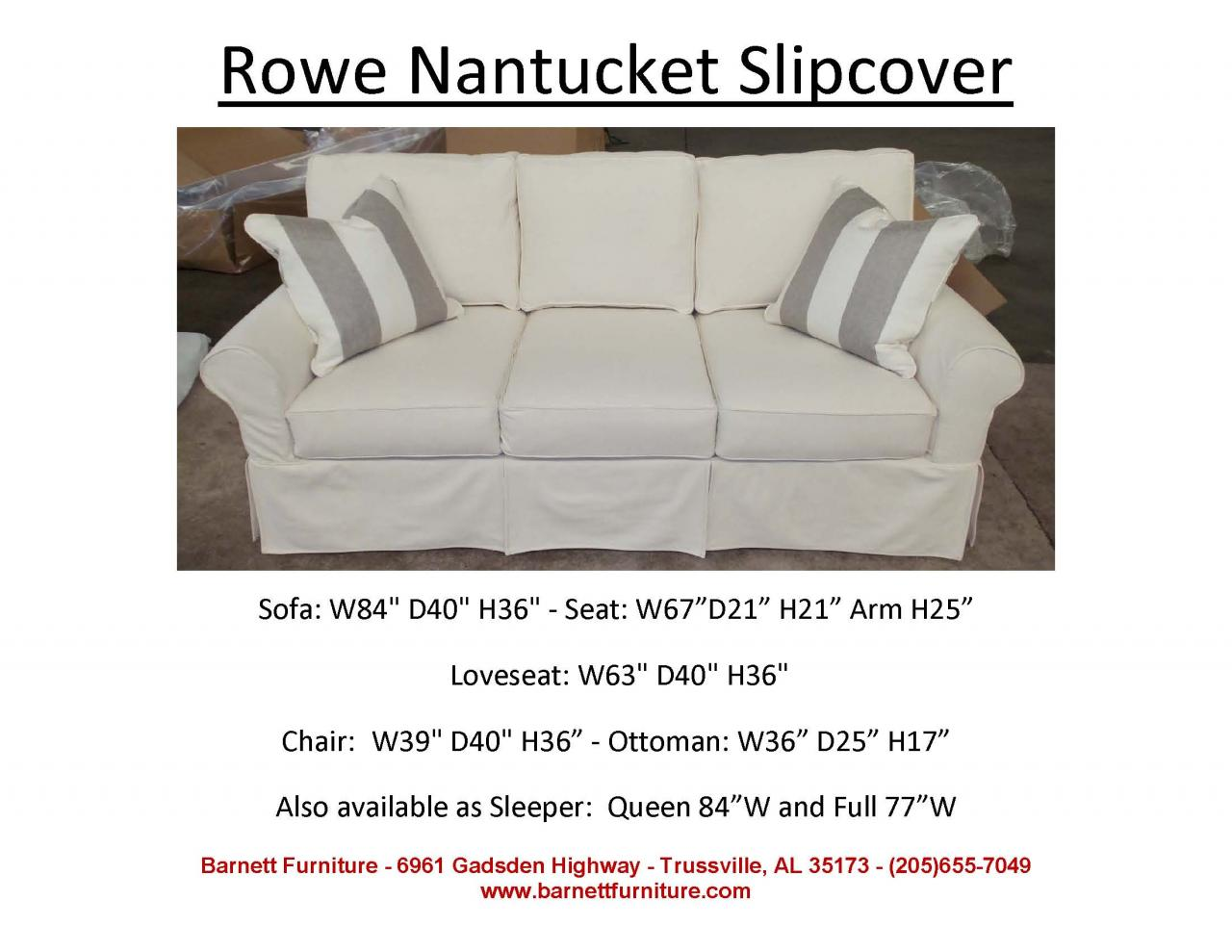 Etonnant ... Rowe Nantucket Slipcover Sofa ...