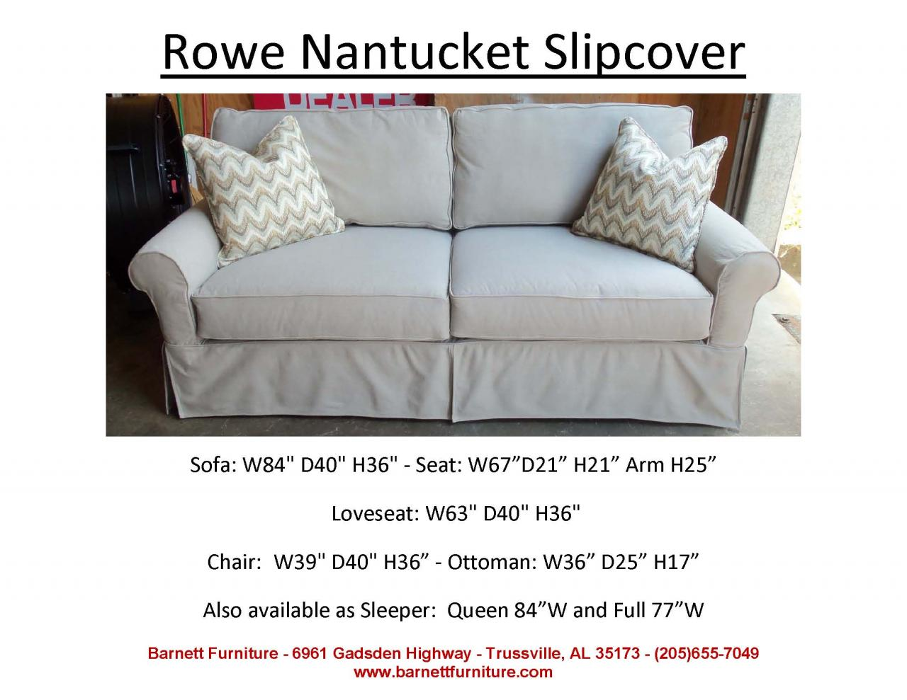 Good Slipcover Sofas Sectionals, Chair And Ottoman
