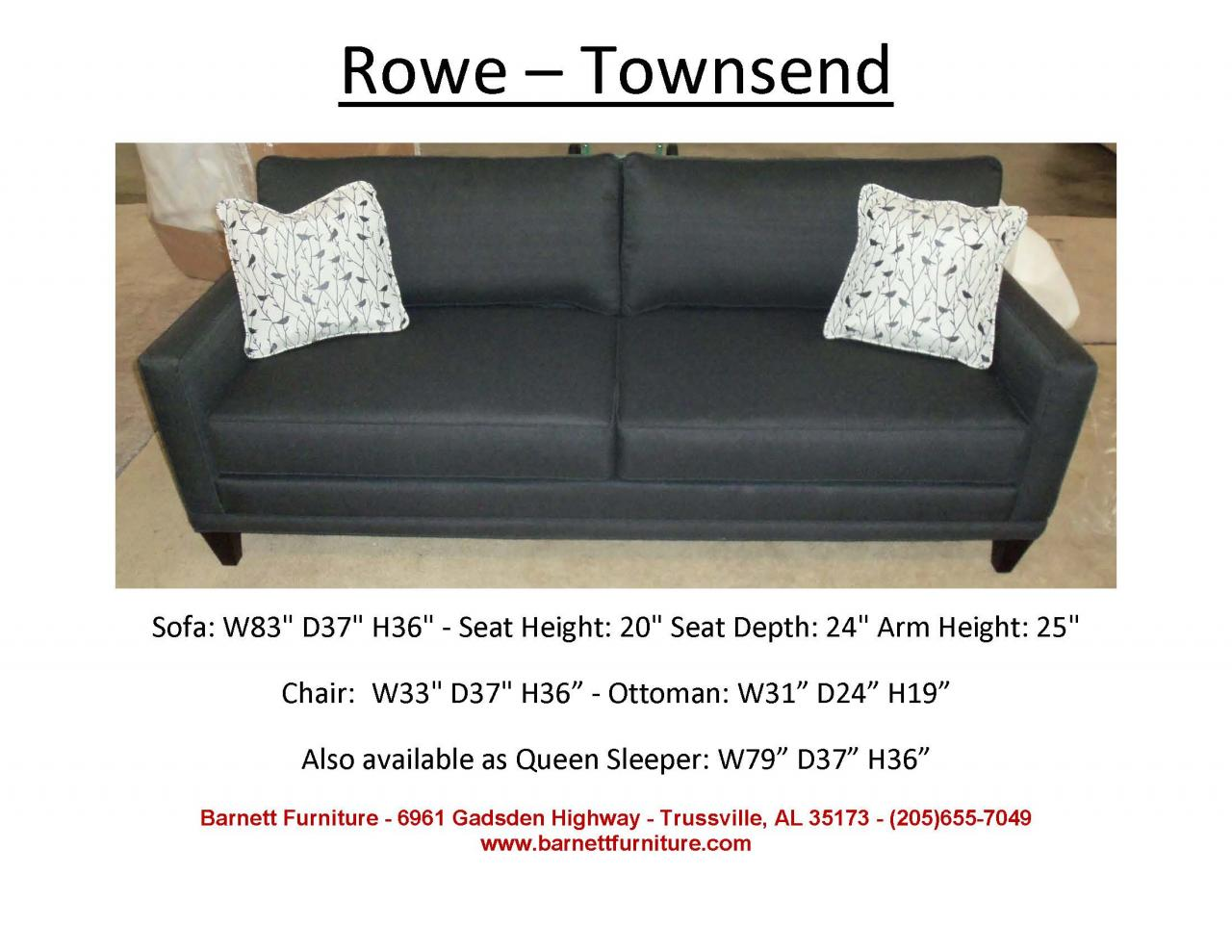 Barnett Furniture Apartment Size 72 Quot 83 Quot
